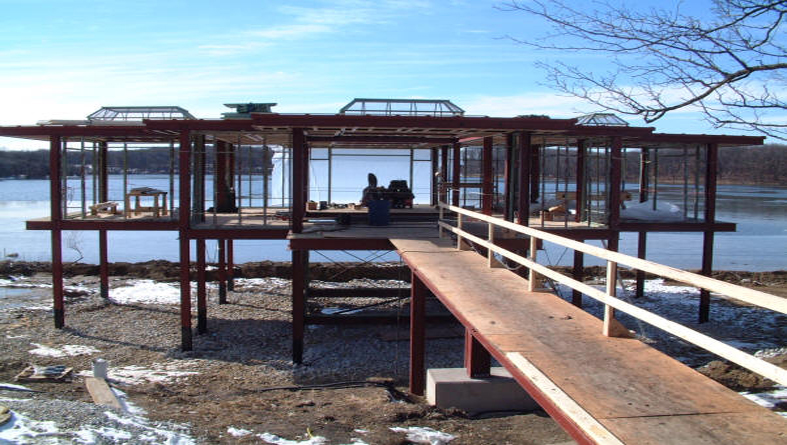 Lake-House-being-built1