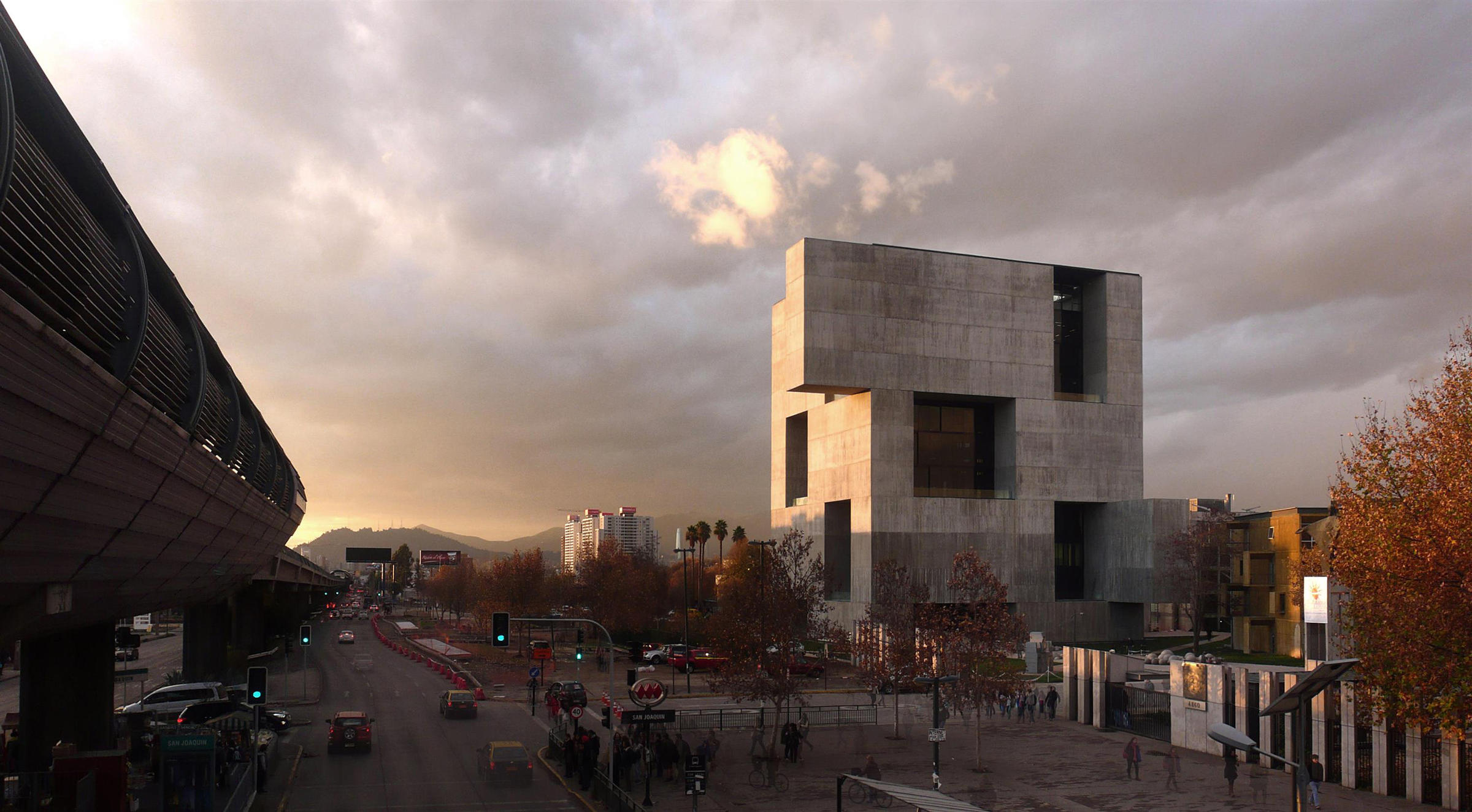 "UC Innovation Center, San Joaquín Campus, Universidad Católica de Chile, 2014: ""We proposed a rather opaque construction towards the outside, which is also efficient for the Santiago weather, and then have a very permeable architecture inside,"" Aravena says."